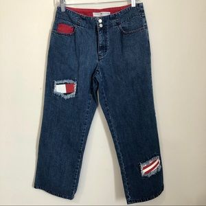 Vintage Tommy Hilfiger Crop Patch Straight Jeans